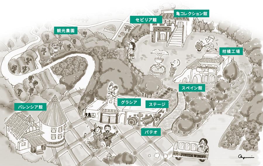 福田農場レストラン地図
